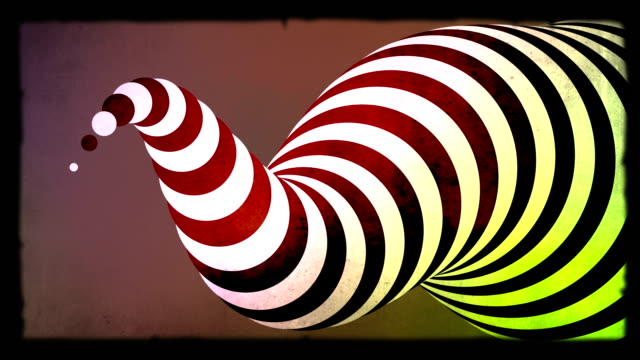 Abstract zebra 3d shape animation. Green screen included video