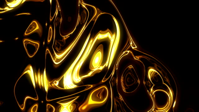 stockvideo's en b-roll-footage met abstract01. golden liquid - goud metaal
