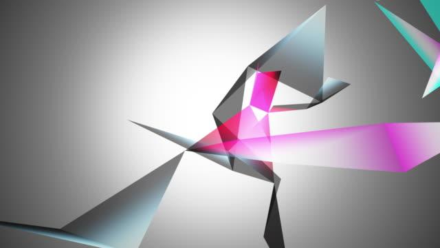 抽象幾何学的カラフルな構成に三角形 - ローポリモデリング点の映像素材/bロール
