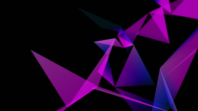 abstraction geometrical colourful composition with triangles video