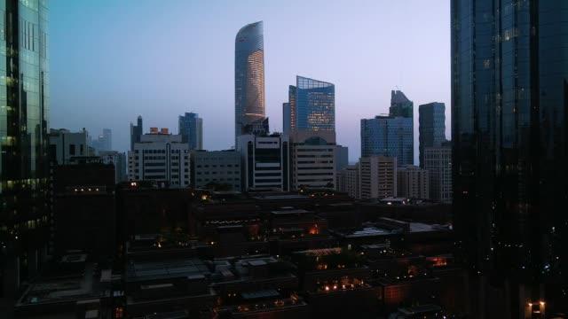 abu dhabi world trade center sunset - souk video stock e b–roll