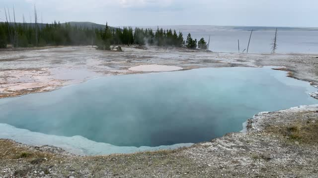 Abyss Geyser in Yellowstone National Park's West Thumb Geyser Basin