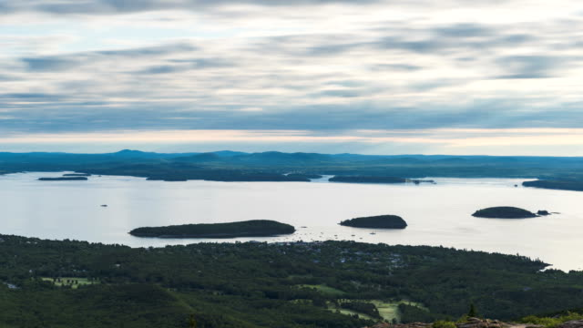 Acadia National Park landscape time lapse video