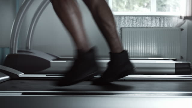 Accelerate from walking to running on treadmill video