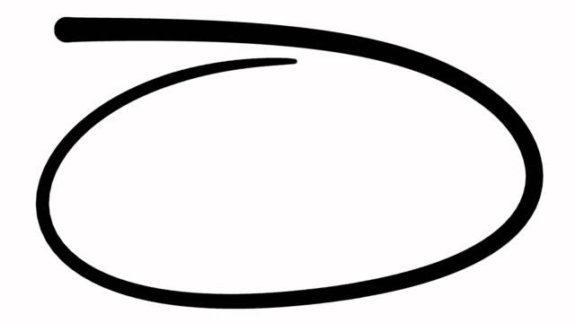 accent circle painted in fluent motion - набросок стоковые видео и кадры b-roll