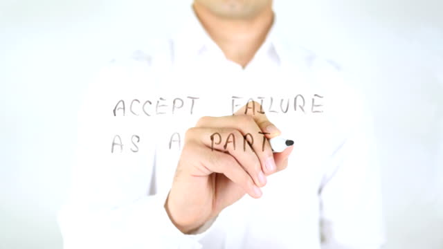 Accept Failure As A part Of Procedure, Man Writing on Glass video