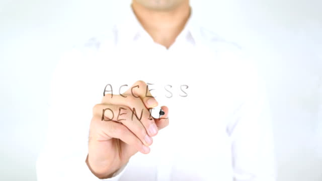 Access Denied, Man Writing on Glass video