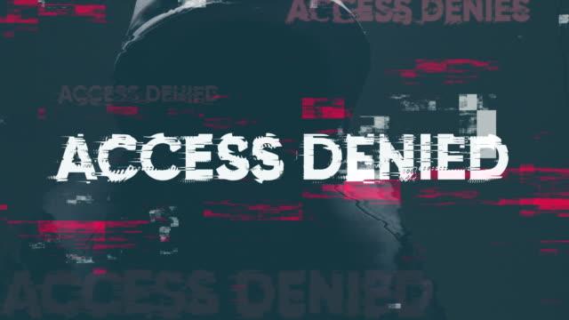 vídeos de stock e filmes b-roll de access denied - encriptação
