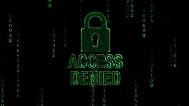 accesso negato con lucchetto - proibizione video stock e b–roll