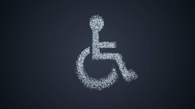 Accessibility concept animation with alpha channel video