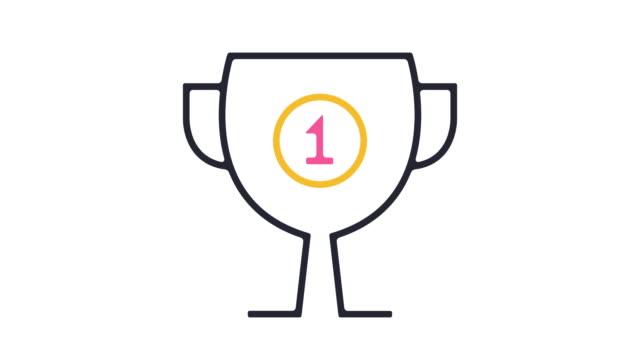 achievements icon animation - badge video stock e b–roll