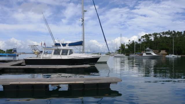 achts mooring in Copra Shed Marina Savusavu Fiji video
