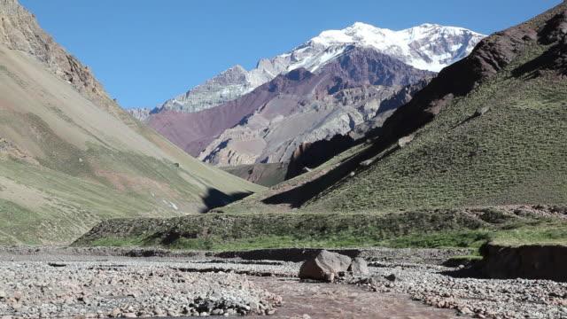 Aconcagua River and Mount Aconcagua Argentina video