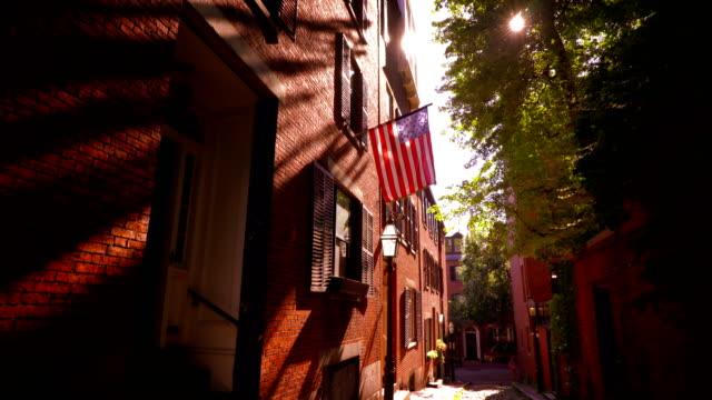 acorn street. boston - vintage architecture stock videos & royalty-free footage