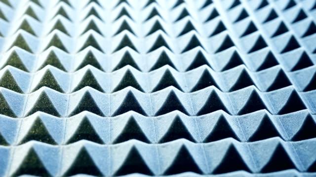 acoustic foam panel background - poliuretano polimero video stock e b–roll