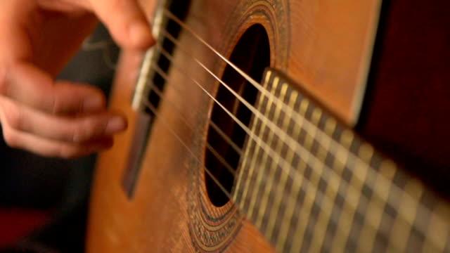 chitarra acustica player - ovest video stock e b–roll