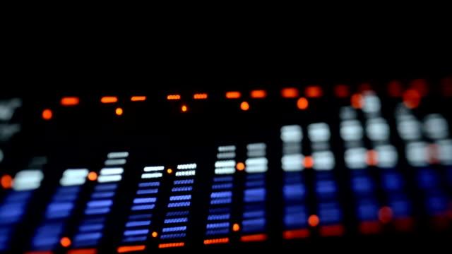 Acoustic image equalizer spectrum analyzer. EQ. video