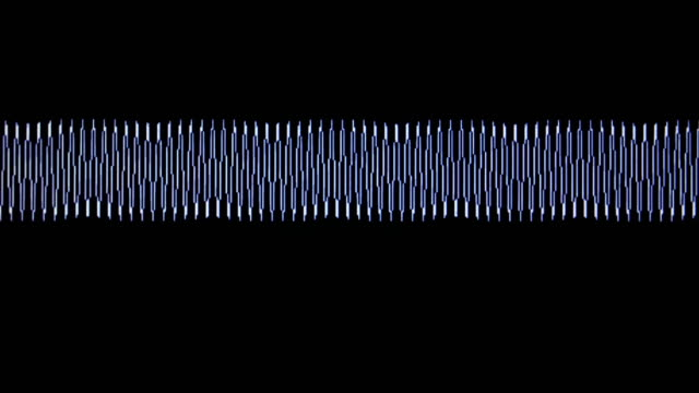 Bидео Acoustic waves on the screen laboratory device close-up