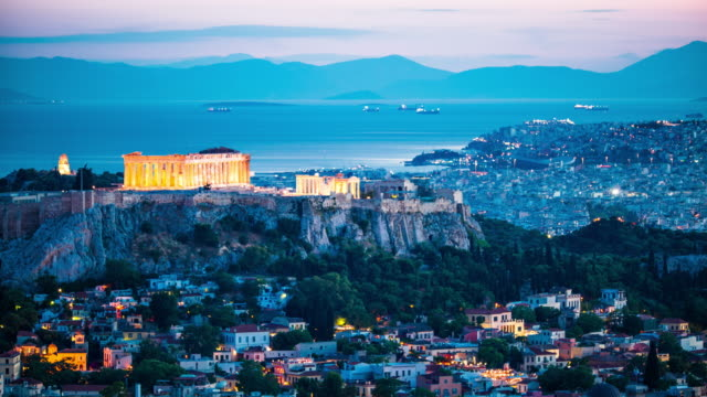 Acropolis in Athens, Greece video
