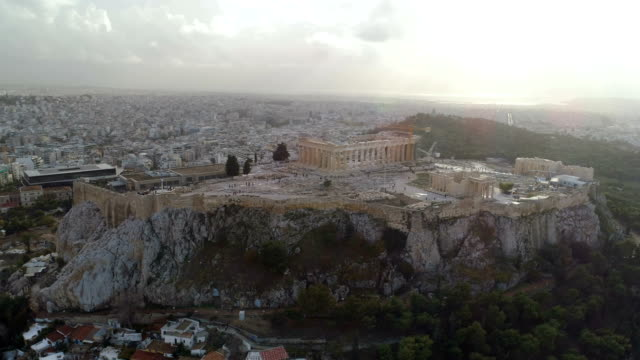 Acropolis of Athens ancient citadel in Greece video