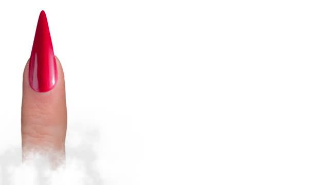 acryl nägel formanimation - maniküre stock-videos und b-roll-filmmaterial
