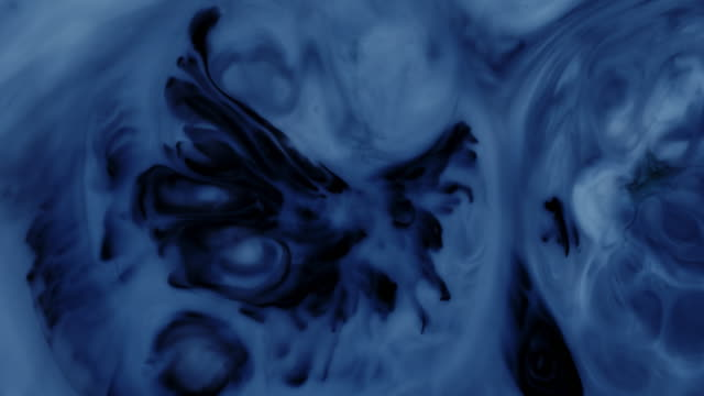 Acrylic texture with blue marbling background video