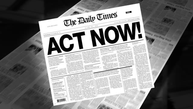 Act Now! - Newspaper Headline video