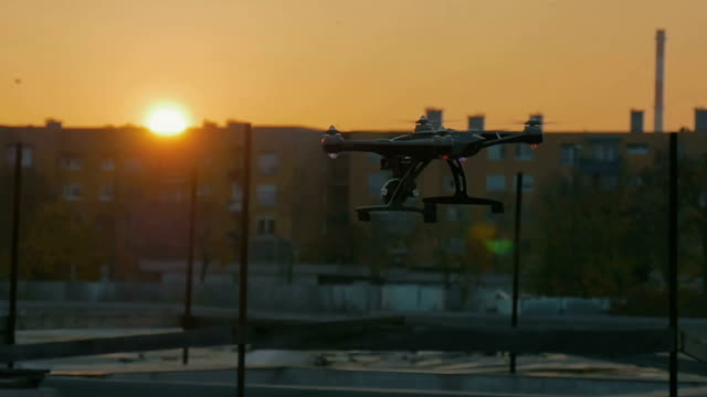 A action drone flying in slow motion video