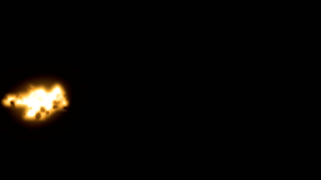 action-film-elemente - blinkt generische gewehr schnauze über schwarz für luma matte - blitzbeleuchtung stock-videos und b-roll-filmmaterial