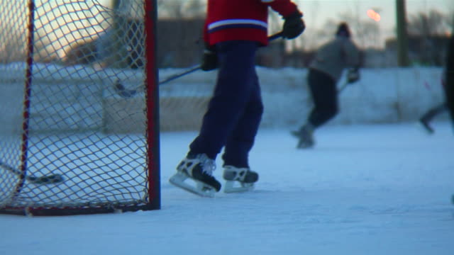 Action in front of the hockey net. (dvcpro hd) video