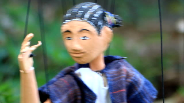 Action of a marionette Playing A Handmade Marionette marionette stock videos & royalty-free footage