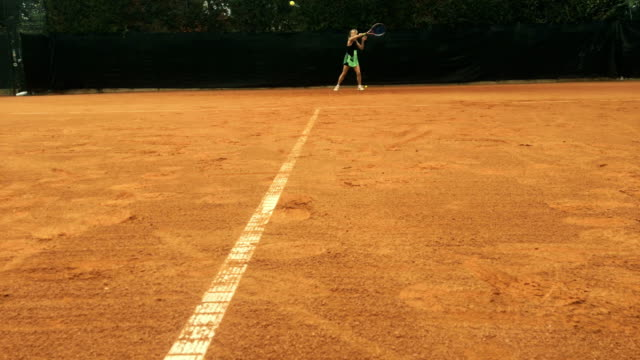 Active Mature Woman Playing Tennis video