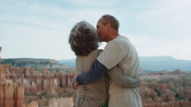 4K UHD: Active Seniors Embracing in Bryce Canyon video