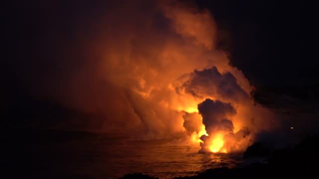 Active Volcano Bubbling Lava Hawaii