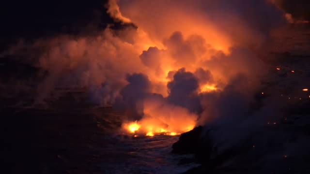 Active Volcano Bubbling Lava Hawaii video