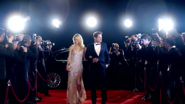 Actors on red carpet video