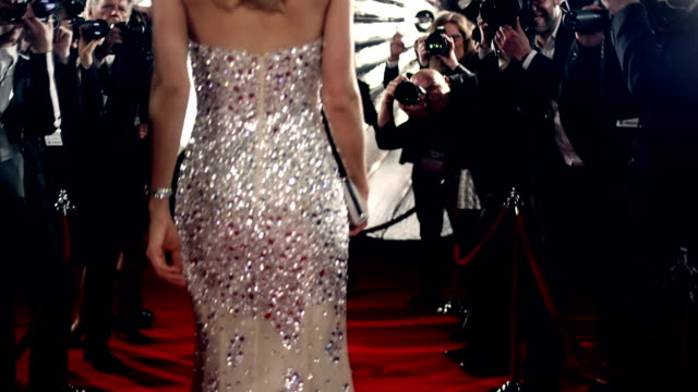 Actress on red carpet Selected Takes - Shot on RED Epic dress stock videos & royalty-free footage