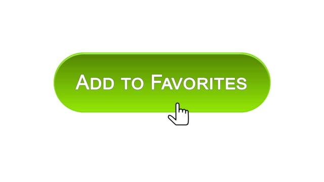vídeos y material grabado en eventos de stock de agregar a favoritos web interfaz botón pulsado con el ratón, elección de color diferente - escoger