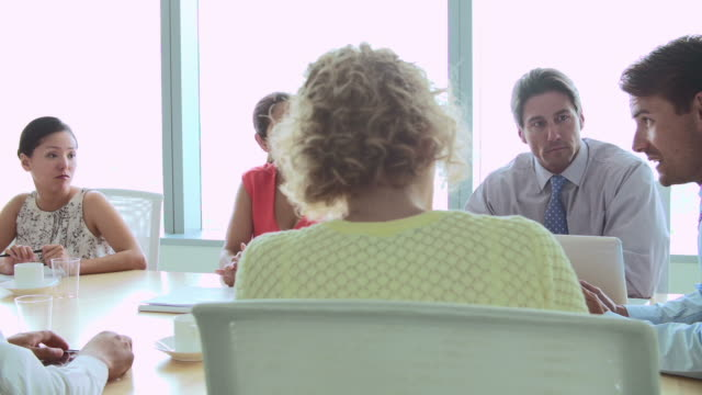 CEO Addressing Meeting Of Businesspeople In Boardroom video