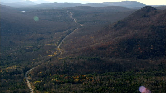 Adirondack Mountains And Blue Ridge Road - Aerial View - New York,  Essex County,  United States video