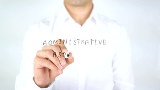 Administrative Assistance, Man Writing on Glass video