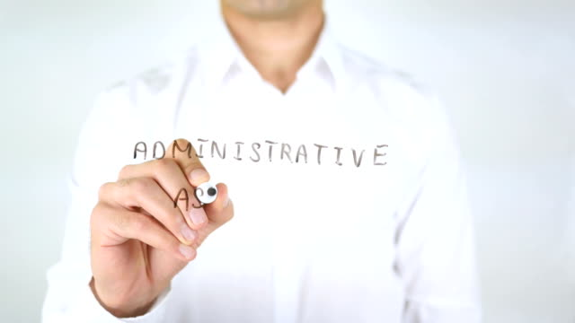 Administrative Assistant, Man Writing on Glass video