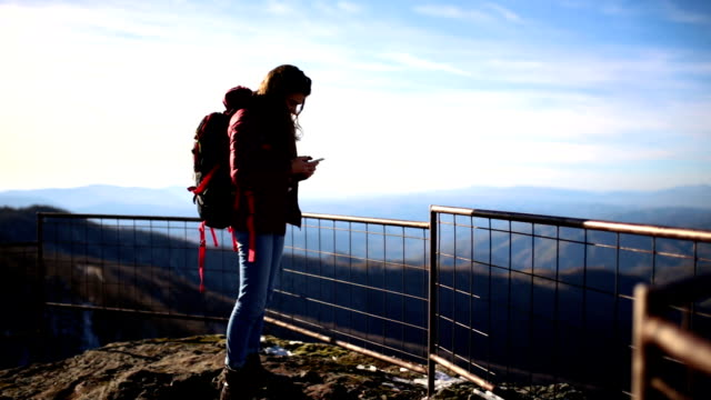 Admiring Scenic Of Majestic Mountain video