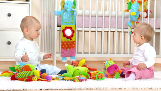 HD: Adorable Babies In Nursery video