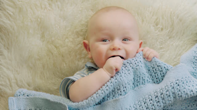 Adorable Baby Looks At Camera video