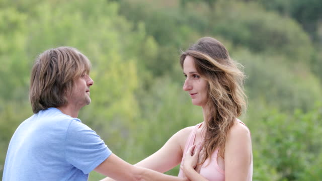 Adult Couple Bonding With Tantric Yoga Exercise video