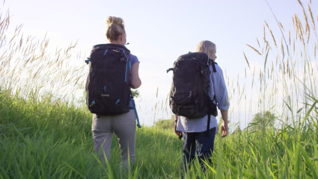 adult couple hiking in the wilderness - canada travel stock videos and b-roll footage
