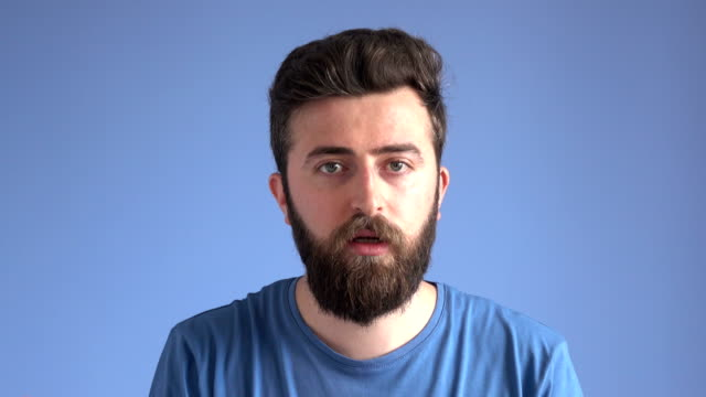 Adult Man With Facial Hair Talking video