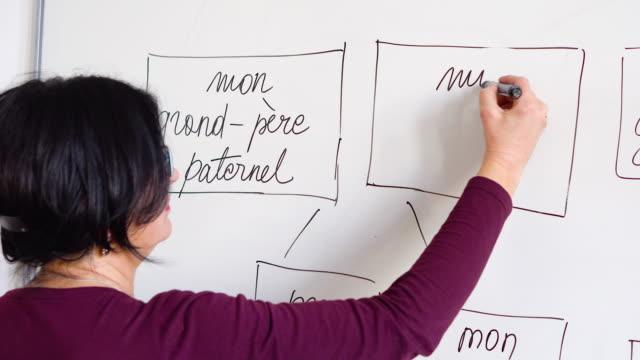 Adultes apprenant une langue Français - Vidéo