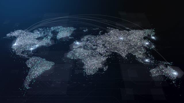advance global broadband internet communication - infographic стоковые видео и кадры b-roll